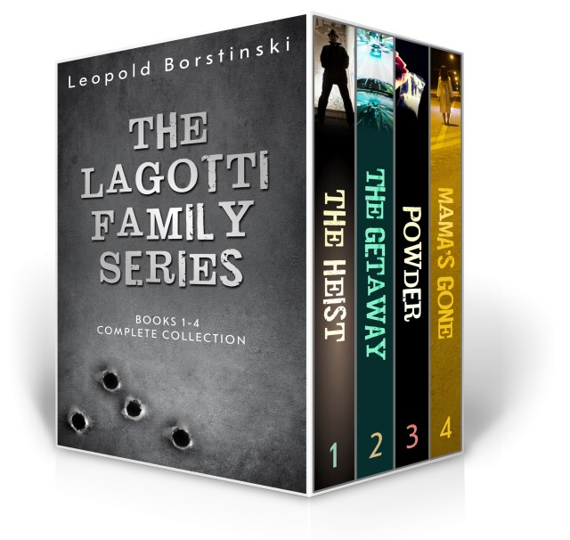 The Lagotti Family Series Books 1-4 Complete Collection Including The Heist, The Getaway, Powder and Mama's Gone.