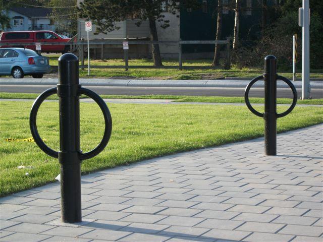 post and ring bike racks bike parking