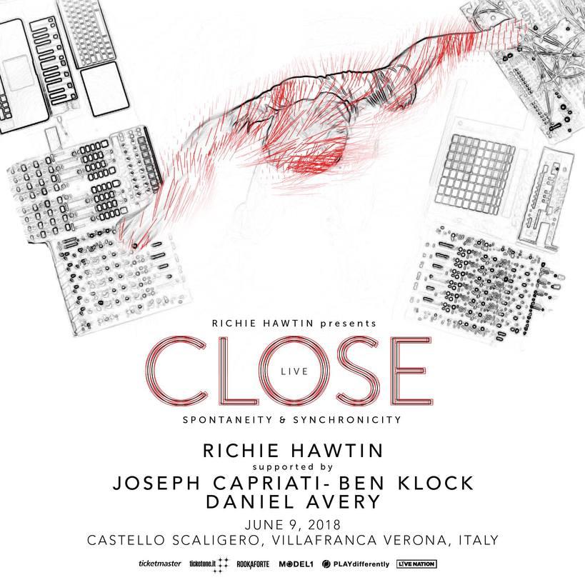 """RICHIE HAWTIN con """"Close"""" il nuovo concept show live il 9 giugno al Castello Scaligero di Villafranca di Verona"""