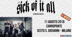I Sick Of It All al Carroponte di Milano in agosto