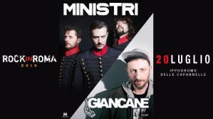 Ministri + Giancane sul palco del Rock in Roma il 20 luglio