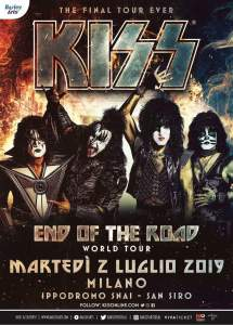 "KISS a Milano per l'unica data italiana del loro tour di addio ""End of the Road World Tour""!"