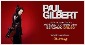 PAUL GILBERT: una data in Italia per il chitarrista dei Mr Big