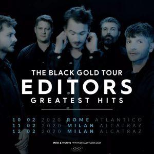 EDITORS - THE BLACK GOLD TOUR: TRE DATE IN ITALIA A FEBBRAIO