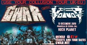 GWAR+Voivod il 13 Dicembre @Rock Planet di Pinarella di Cervia (RA)