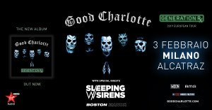 GOOD CHARLOTTE: Sleeping with Sirens annunciati come supporti dell'unica data italiana