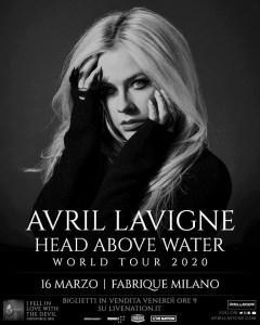 Avril Lavigne una data a marzo 2020
