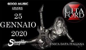 Lita Ford: unica data italiana il 25 Gennaio allo Slaughter Club di Paderno Dugnano (MI)