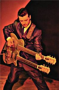 MARCO con la Gretsch Synchromatic Double neck