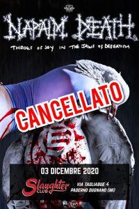 NAPALM DEATH: cancellata la data di Milano