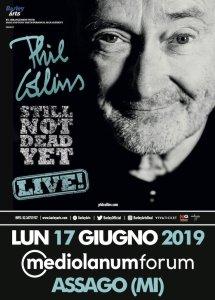 """Phil Collins: unica data italiana del """"still not dead yet live tour"""" al mediolanum forum di assago a giugno!"""