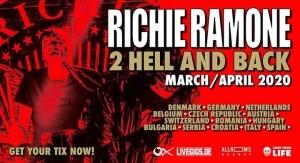 Richie Ramone: Live @Druso di Ranica (BG) il prossimo 27 Marzo