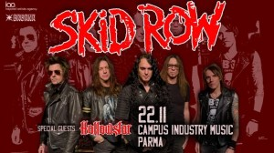 Skid Row al Campus Industry Music di Parma il 22 Novembre