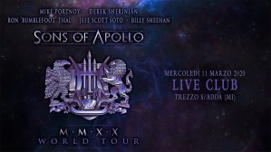 Sons of Apollo: unico show italiano l'11 Marzo 2020 @Live Music Club di Trezzo sull'Adda (MI)