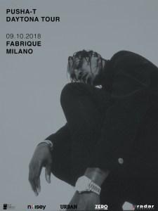 PUSHA T: il 9 ottobre al Fabrique di Milano il king del rap game americano