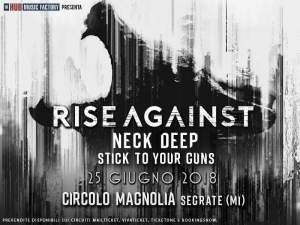RISE AGAINST: mancano solo due settimane al megaevento di Milano con Neck Deep e Stick to Your Guns