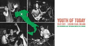 YOUTH OF TODAY - una data in Italia a luglio!