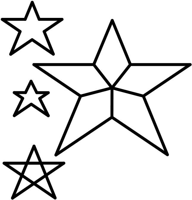 stella cometa di natale da colorare