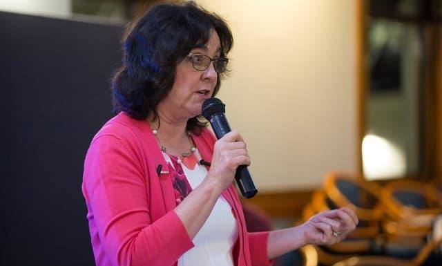 Jennifer Roback Morse, durante una conferencia