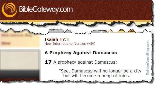 Damascus Syria Prophecy
