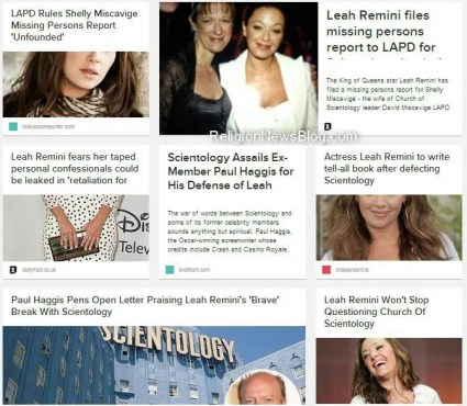 Some of the media stories about actress Leah Remini vs the 'Church' of Scientology