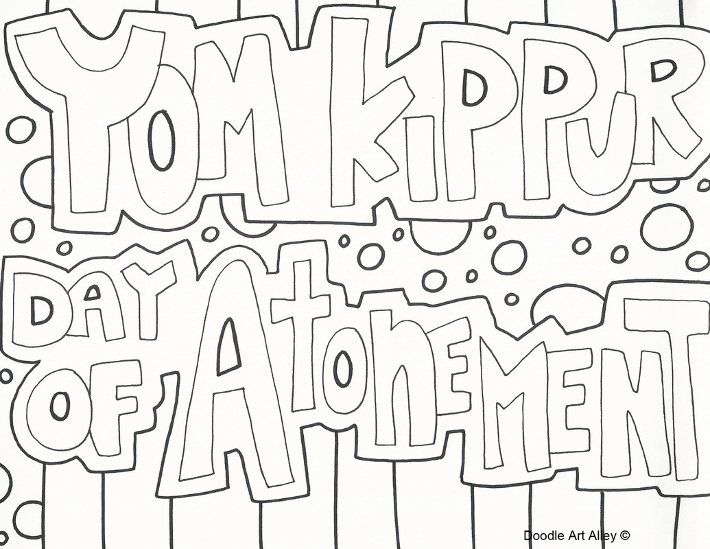 Yom Kippur Coloring Pages Religious Doodles