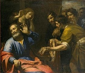 Giovanni Andrea de Ferrari - 'Joseph's Coat Brought to Jacob', oil on canvas, c. 1640, El Paso Museum of Art - Creative Commons