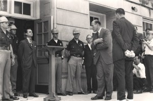 George Wallace at Alabama capitol standing against desegregation