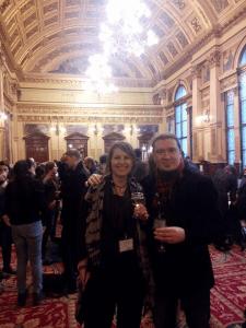 Amanda Duymaer van Twist and Titus Hjelm at Glasgow City Chambers. Photo courtesy of Titus Hjelm.