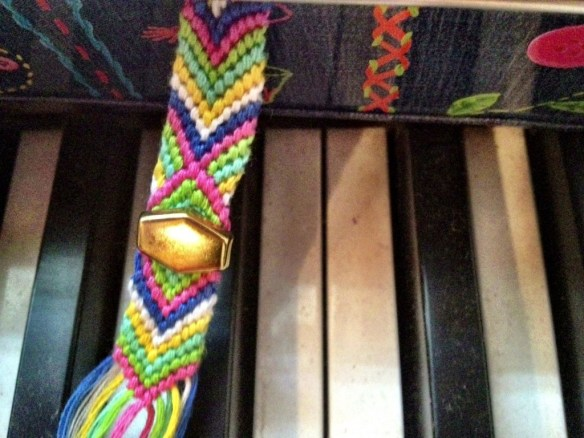 I'm loving friendship bracelets this summer. Here's one I'm in the middle of making.