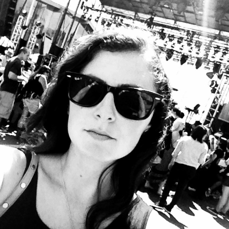Black and white style at SSMF in my ray bans.