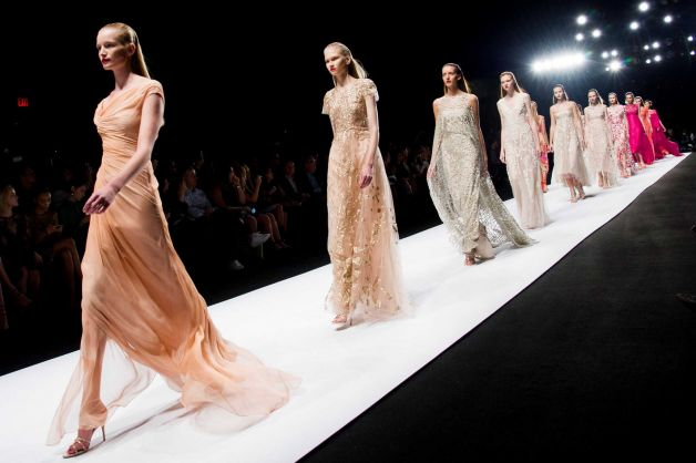 Monique Lhullier's Spring 2014 collection is one of my favorites from this year's NYFW.  The gowns are stunning and timeless.