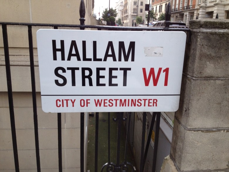 The street I lived on in London back in college