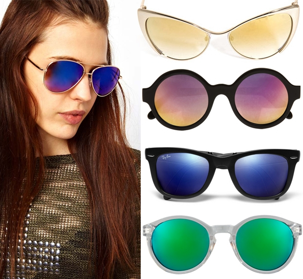 I'm loving mirrored sunglasses right now.  Even though it's fall, they help to keep summer alive.