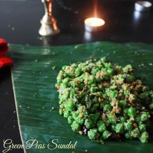 Green Peas Sundal/Pachai Pattani Sundal