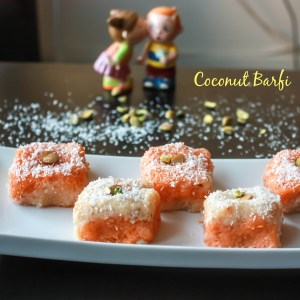 Coconut Barfi/Coconut Fudge