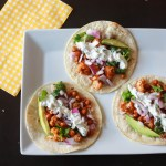 Roasted Cauliflower Chickpeas Taco With Cilantro Lime Crema
