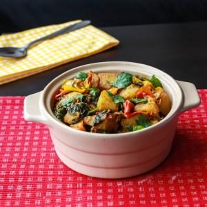Saag Aloo Capsicum / Spinach Potato Pepper