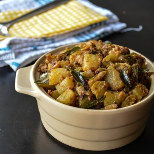 Chayote dry curry /Chow chow curry