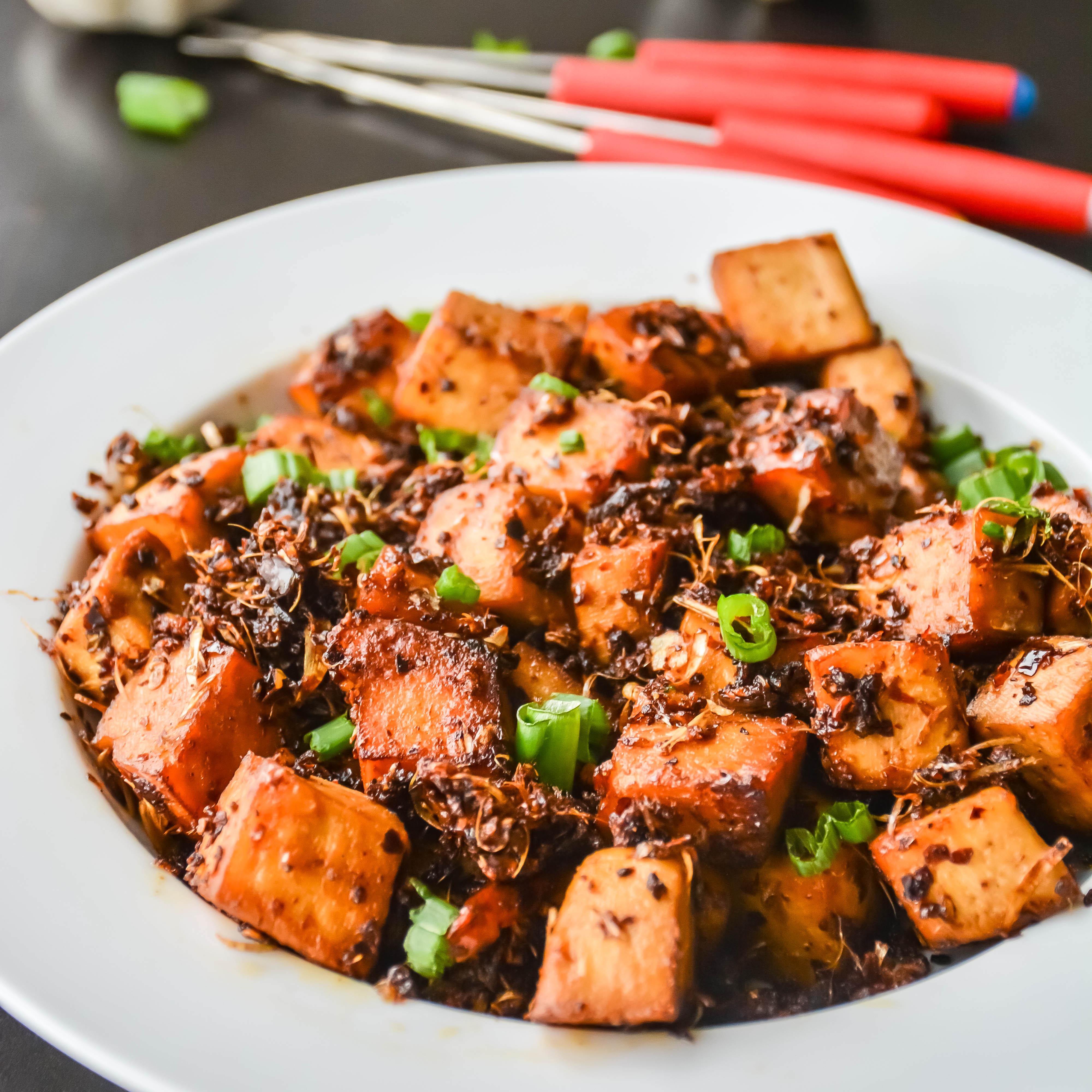 Spicy Garlic Tofu In 10 Minutes