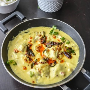 Punjabi Kadhi Pakora/ Fritters in yogurt gravy