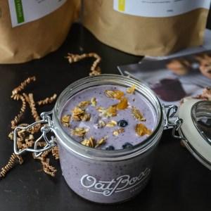 Blueberry Banana Pecan Oats Milkshake + Oatbox Review