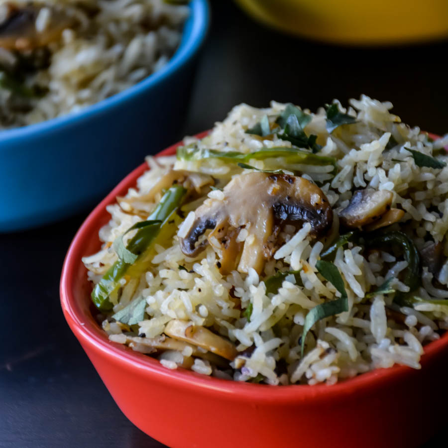 Mushroom Pepper Fried Rice-3