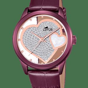 Reloj Lotus corazon