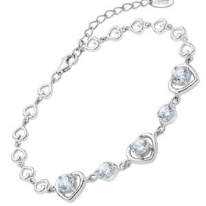Pulsera corazón swarovski Lotus silver