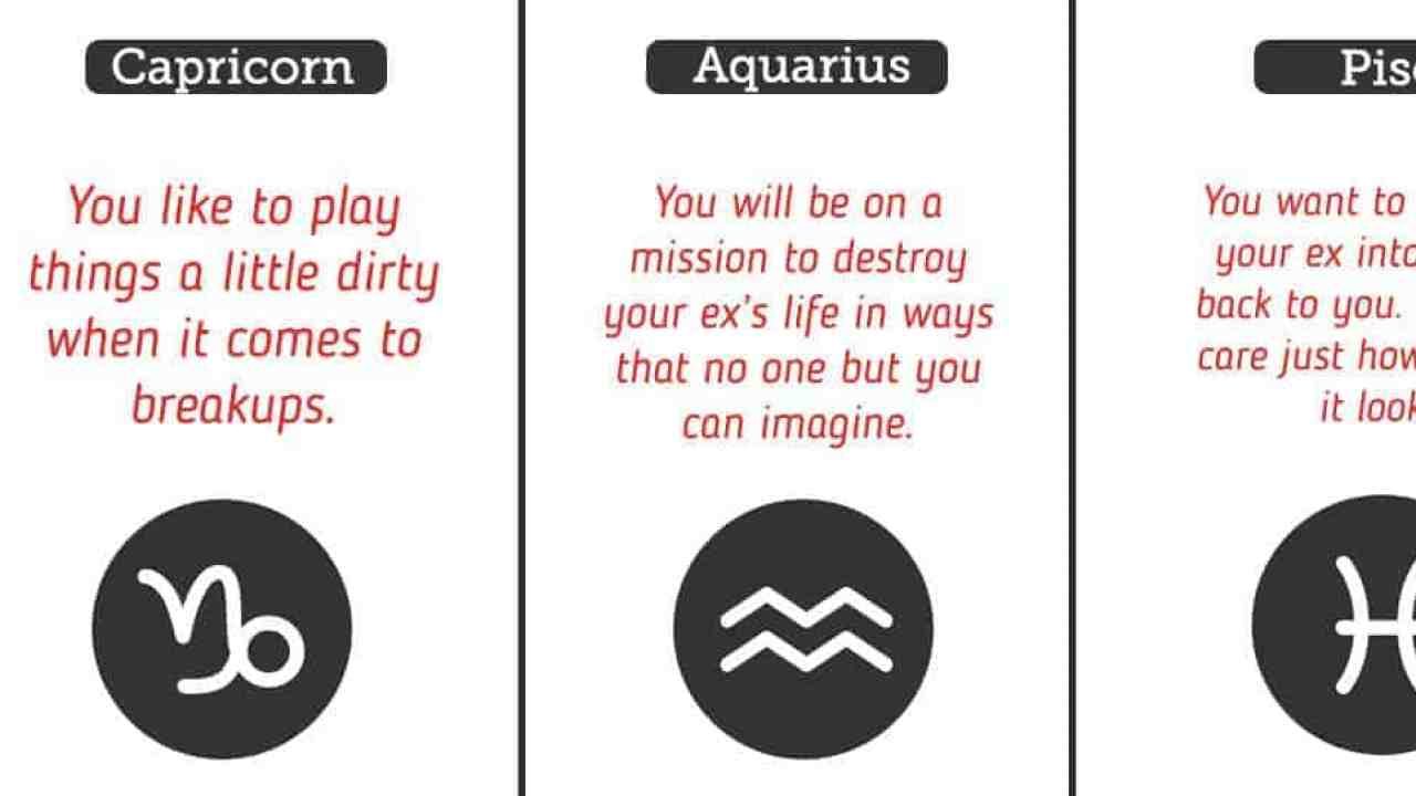 How You Want Your Ex To Feel After A Breakup, Based On Your Zodiac Sign