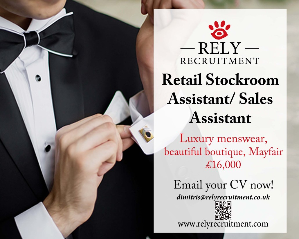 Stockroom Assistant Required £16 000 With Some Sales Work On Shop