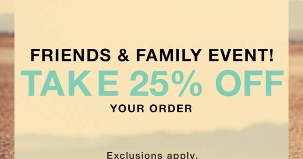 Friends and Family Event at Shopbop Take 25% Off