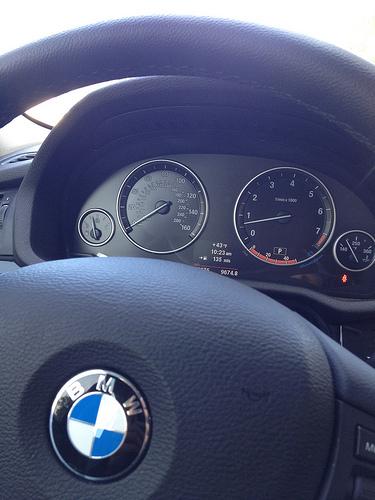 BMW X3 gauge cluster