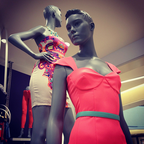 Mannequins in womens contemporary at Saks Fifth Avenue Tampa Bay